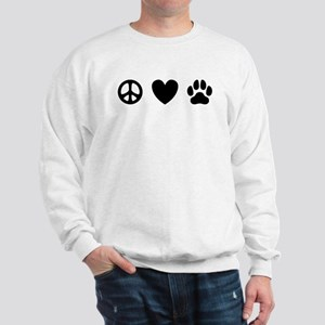 Peace Love Dogs [st b/w] Sweatshirt